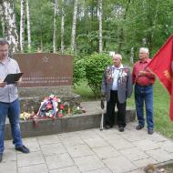 Projev místopředsedy KV KSČM Olomouc a předsedy OV KSČM Ludvíka Šuldy u památníku ve Skalce